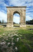picture of pilaster  - Triumphal arch of Bara in Tarragona Catalonia Spain - JPG