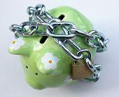 Piggy bank with padlock 1