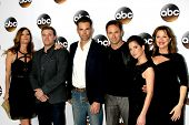 LOS ANGELES - JAN 14:  M Stafford, Billy Miller, J Thompson, William deVry, K Monaco, Nancy Lee Grahn at the ABC TCA Winter 2015 at a The Langham Huntington Hotel on January 14, 2015 in Pasadena, CA
