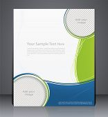 Layout Business Brochure, Magazine Cover, Or Corporate Design Template Advertisment In Green Color W