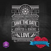 Artistic Save the Date Template Design