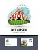 circus vector logo design template. show or entertainment icon.