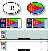 picture of eritrea  - eritrea auto set against white background abstract vector art illustration image contains transparency - JPG