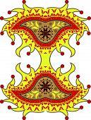 Harlequin Paisley Ornament