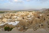 Tower houses town of Shibam, Hadramaut valley, Yemen.