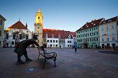 Main square in Bratislava.