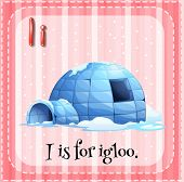 picture of igloo  - Illustration of an alphabet I is for igloo - JPG