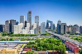 Beijing, China modern financial district skyline.