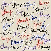Hand signature set