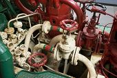 Part Of Fire Sprinkler System In The Ship