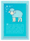 Christmas layered blue card