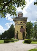 Tower - ruins. Catherine Park. Pushkin (Tsarskoye Selo). Petersburg.