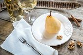 Poached Pear In White Wine