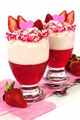 Valentines Day Strawberry Parfaits