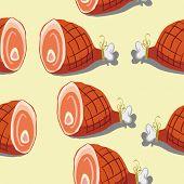 ham seamless pattern