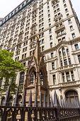 stock photo of trinity  - Trinity Church Manhattan New York City US - JPG