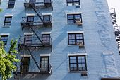 stock photo of west village  - West Village in New York Manhattan building facades USA NYC - JPG