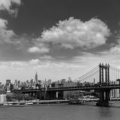 Manhattan Bridge from Brooklyn New York City US