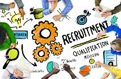 stock photo of recruiting  - Diversity Hands Recruitment Search Opportunity Concept - JPG