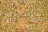 picture of batik  - The flower Batik Thai traditional background style - JPG