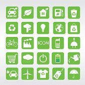 24 Ecology Vector Icons Set.