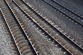 Three railroad tracks