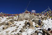 Top of Khardung La Pass LADAKH, INDIA - September ,2014