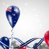 New Zealand flag on balloon