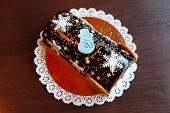 picture of yule  - christmas chocolate yule log - JPG