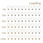 Bulb Preloaders And Progress Loading Bars