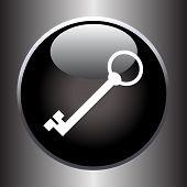 Key icon on black button