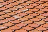 Roof Tile Pattern  Closeup