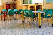 Kindergarten Class With The Green Chairs