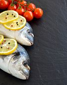 Fresh Dorado Fish And Vegetables