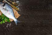 Fresh Dorado Fish And Parsley
