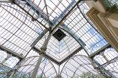 Crystal Palace (palacio De Cristal) Cupola Interior View In Retiro Park, Madrid