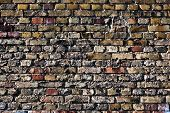 Red And Yellow Brick Wall