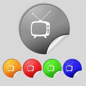 image of tv sets  - Retro TV mode sign icon - JPG