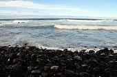 Stony Beach With Waves