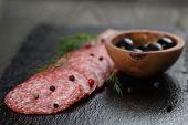 Salami Slices Slate Board