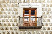 Moorish floral wall decoration.