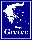 Silhouette Map Of Greece