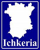 Silhouette Map Of Ichkeria