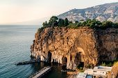 picture of marina  - Cliffs at Marina di Cassano Piano di Sorrento. Italy ** Note: Soft Focus at 100%, best at smaller sizes - JPG