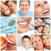 stock photo of dental  - teeth whitening tooth brushing dental care - JPG