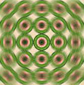 stock photo of parallelogram  - background pattern made from piece of Karanda fruit in radial blur style - JPG