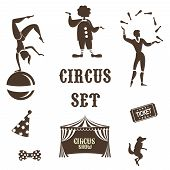 stock photo of circus tent  - Background of the poster of circus in design execution - JPG