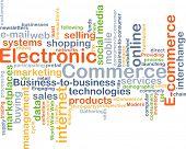 image of electronic commerce  - Background concept wordcloud illustration of electronic commerce - JPG
