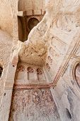 pic of goreme  - Goreme church remains with historic vandalism in Cappadocia Turkey - JPG