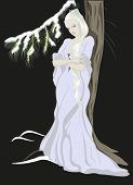 picture of snow queen  - The Snow Queen standing near the tree - JPG